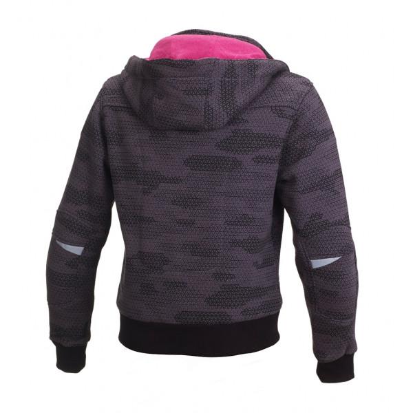 Macna woman summer jacket Freeride black grey camo pink
