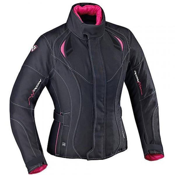 Ixon Alhena HP Women motorcycle Jacket Black Fuchsia