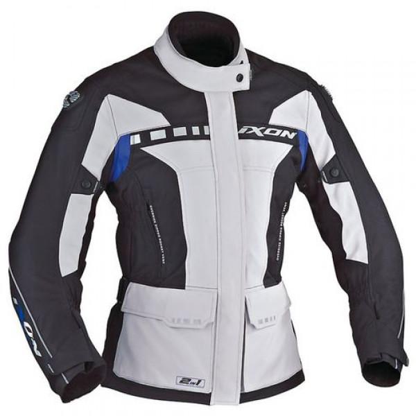 Ixon CORSICA Lady motorcycle Jacket Grey Black Blue