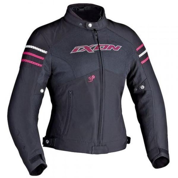 Ixon Electra Woman motorcycle Jacket Black Fucsia