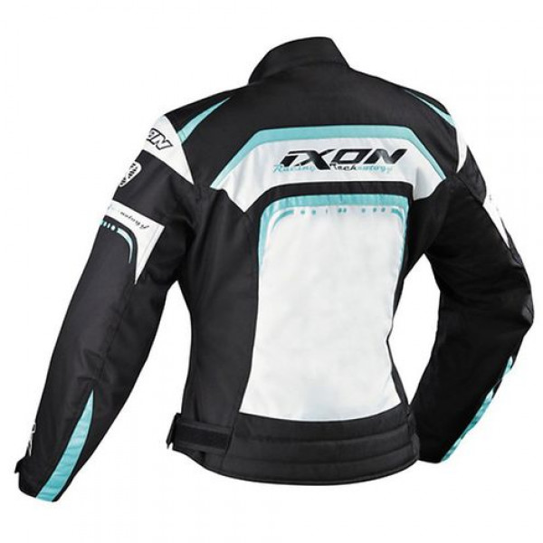 Ixon Lover Woman motorcycle Jacket White Black Turquoise