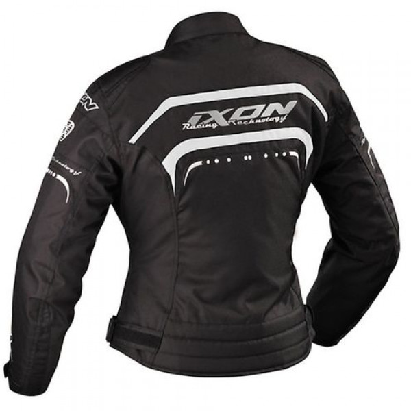 Ixon Lover Woman motorcycle Jacket Black White Silver