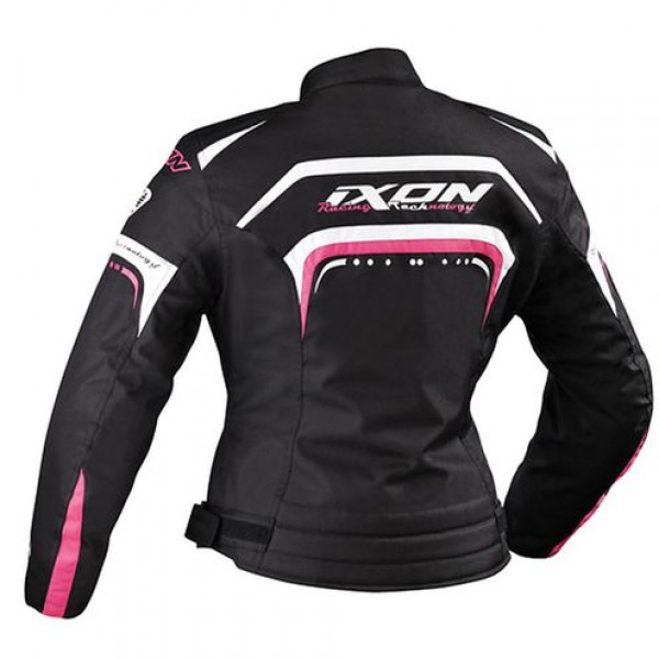 Ixon Lover Woman motorcycle Jacket Black White Fuchsia