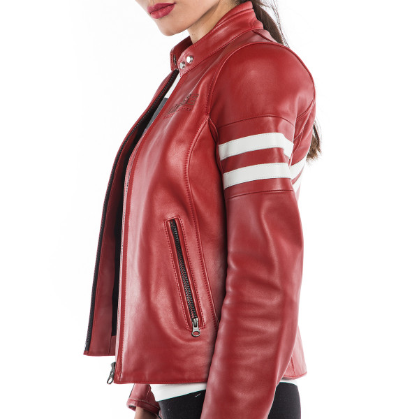 Dainese72 FRECCIA72 LADY leather womanjacket Red  White