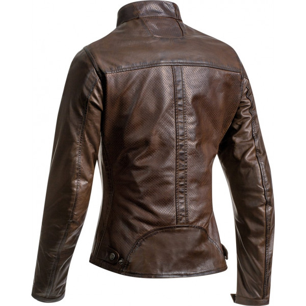 Ixon CRANK AIR LADY woman leather jacket Brown