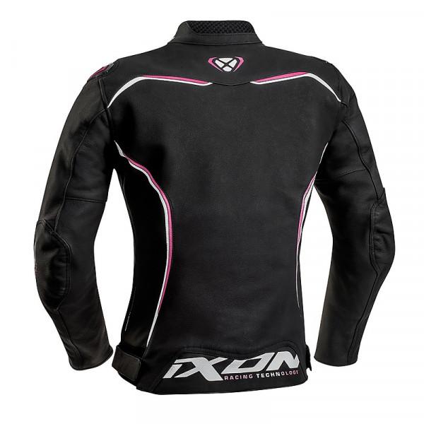 Ixon TRINITY woman leather jacket Black White Fuchsia