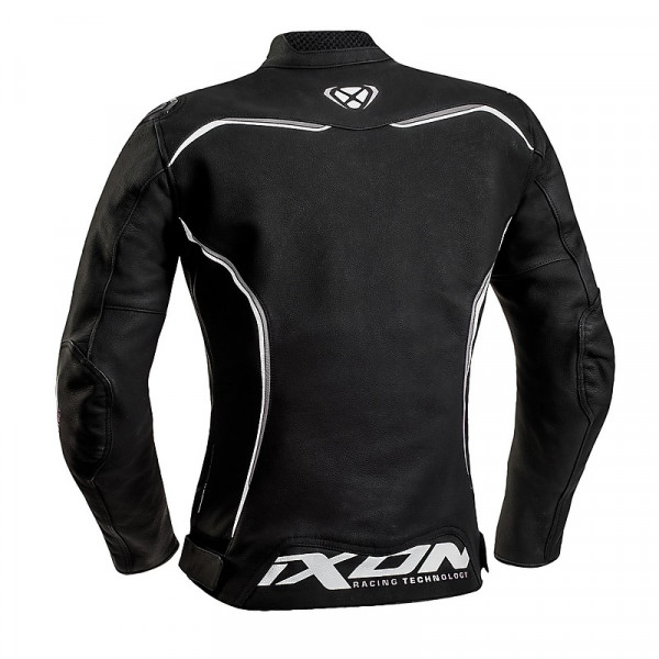Ixon TRINITY woman leather jacket Black White Grey