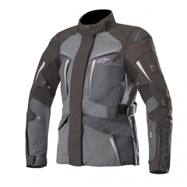 Alpinestars STELLA YAGUARA Tech-Air compatible motorcycle Lady jacket black dark gray mid gray
