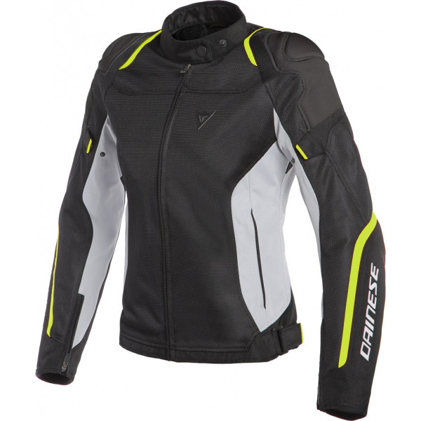 Dainese AIR MASTER LADY summer jacket black glacier gray fluo yellow