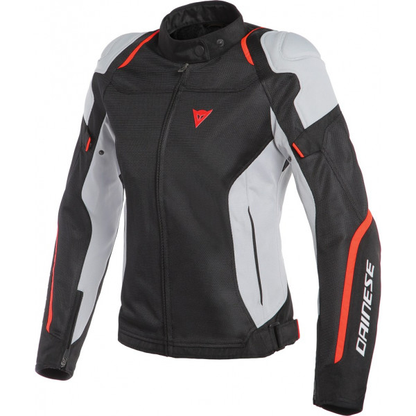 Dainese AIR MASTER LADY summer jacket black glacier gray fluo red