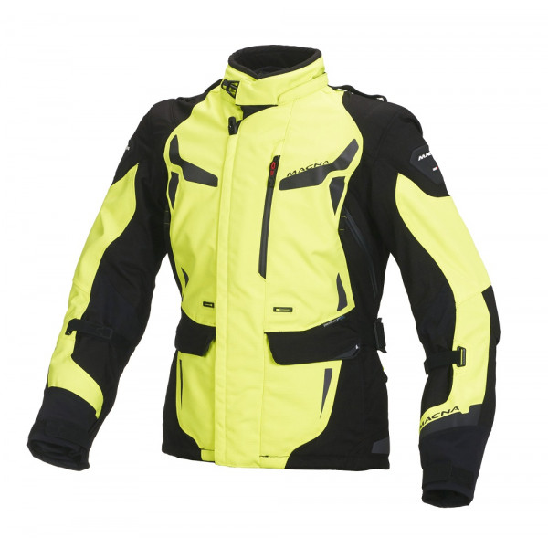 Macna woman touring jacket Impact Pro WP black fluo yellow