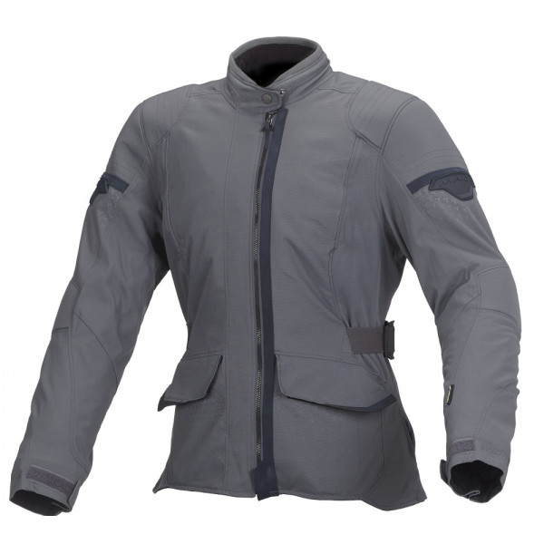 Macna woman touring jacket Shine WP dark grey