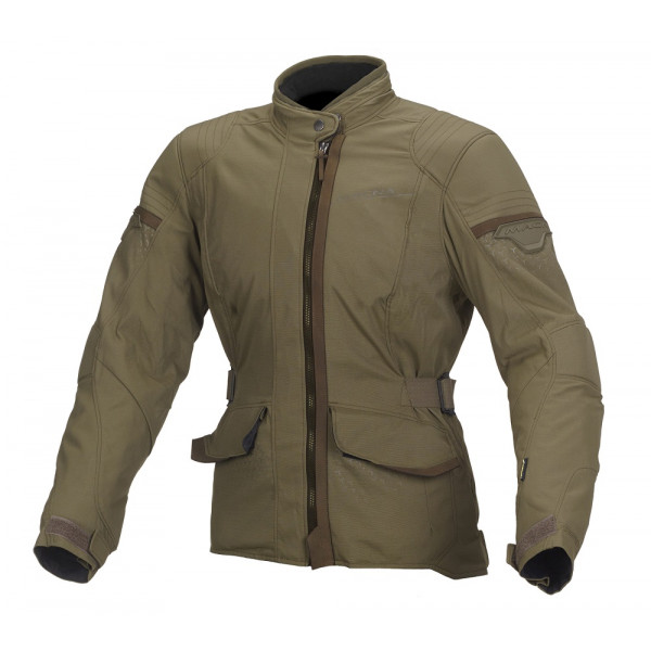 Macna woman touring jacket Shine WP green
