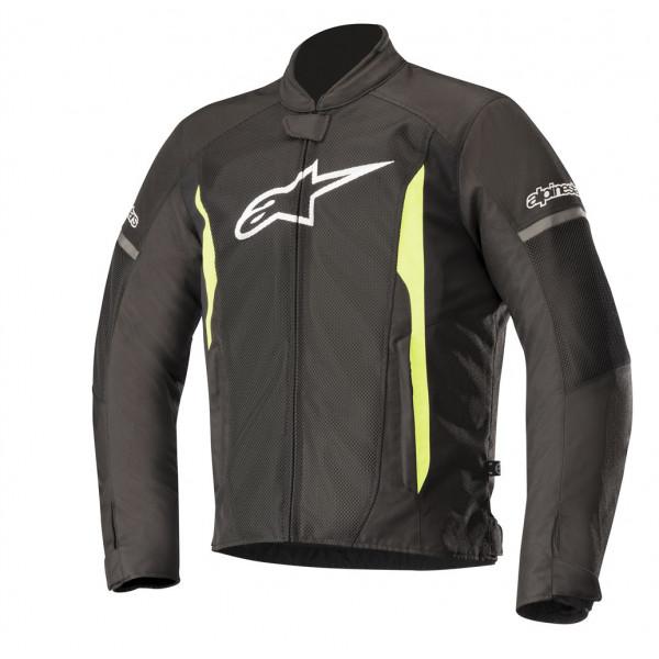 Alpinestars T-FASTER AIR summer jacket black yellow fluo