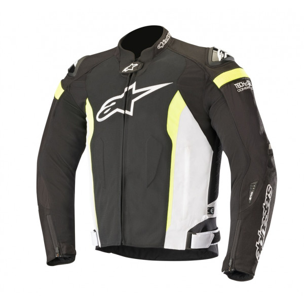 Alpinestars T-MISSILE AIR Tech-Air compatible summer jacket black white yellow fluo