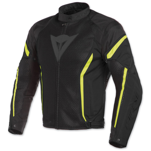 Dainese AIR CRONO 2 summer jacket black black fluo yellow