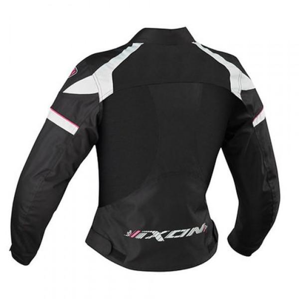 Ixon Sierra Woman motorcycle Summer Jacket Black White Fuchsia