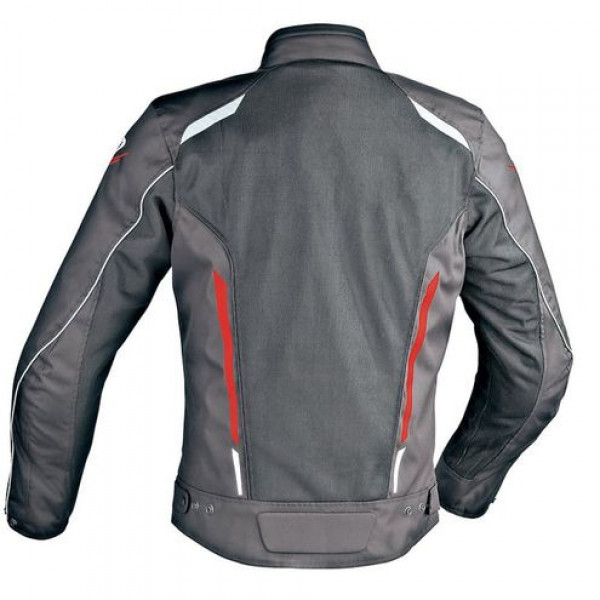 Ixon COOLER Summer motorcycle Jacket Black White Red