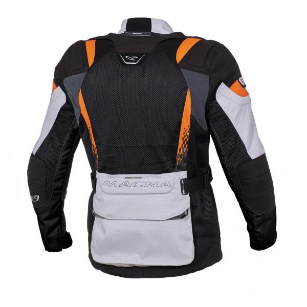 Macna summer jacket Furio light grey black orange