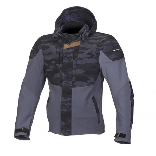 Macna summer jacket Hoodini black camo grey