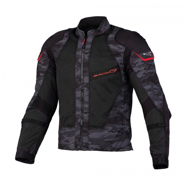 Macna summer jacket Sunrise black camo red