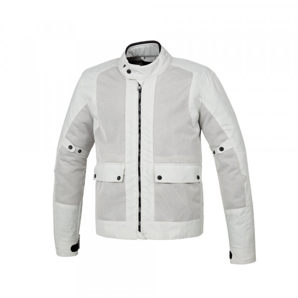Tucano Urbano Network motorcycle jacket light grey