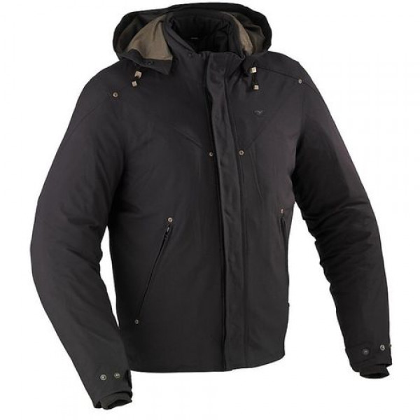 Ixon motorcycle Jacket Fabric Pattern Black Boston