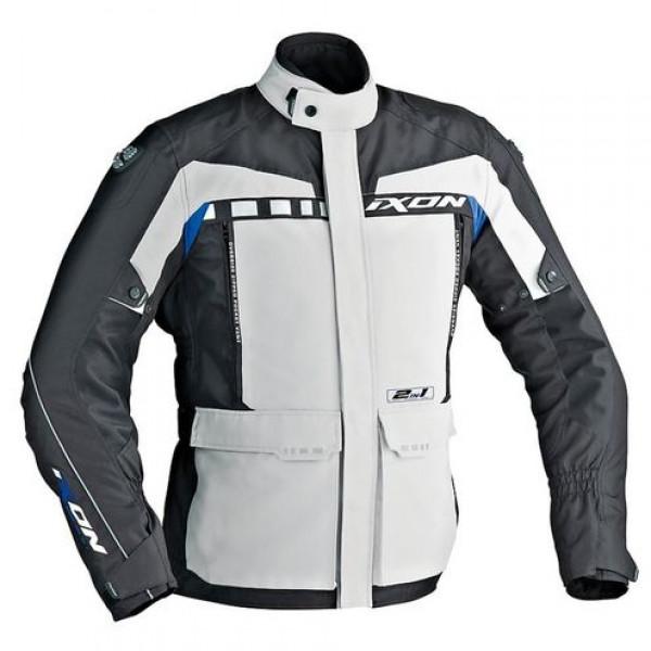 Ixon CORSICA motorcycle Jacket Grey Black Blue