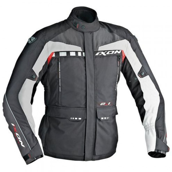 Ixon CORSICA motorcycle Jacket Black Grey Red