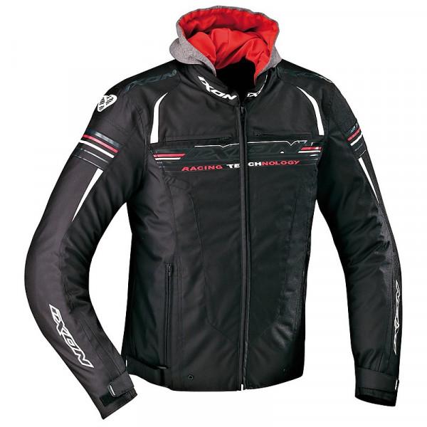 Ixon Dual motorcycle jacket Black White Red