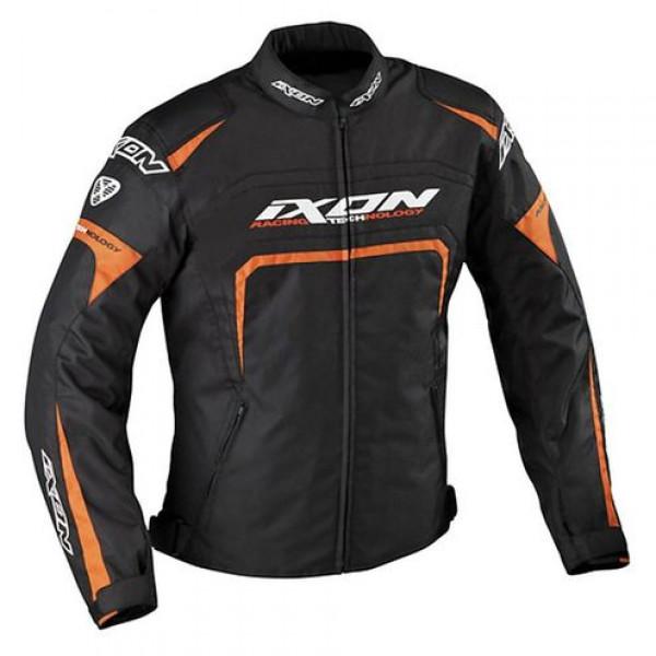Ixon Eager motorcycle Jacket Black White Orange