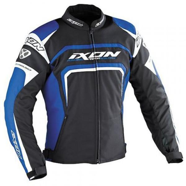 Ixon Eager motorcycle Jacket Black White Blue