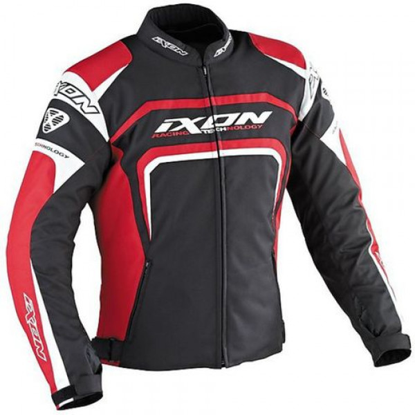Ixon Eager motorcycle Jacket Black White Red