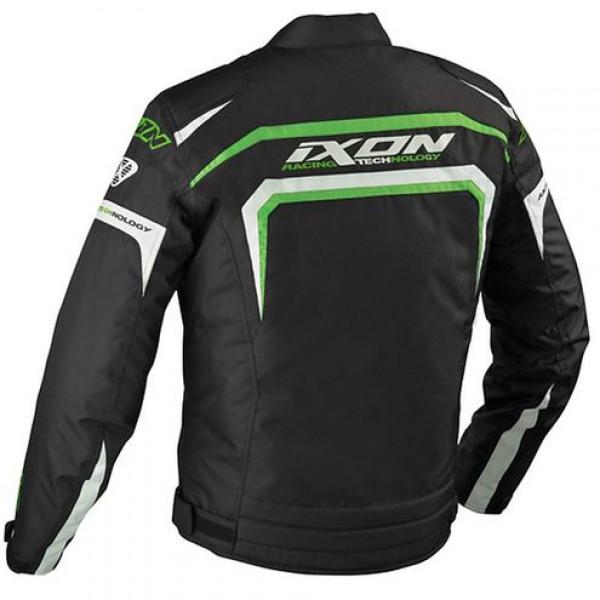 Ixon Eager motorcycle Jacket Black White Green