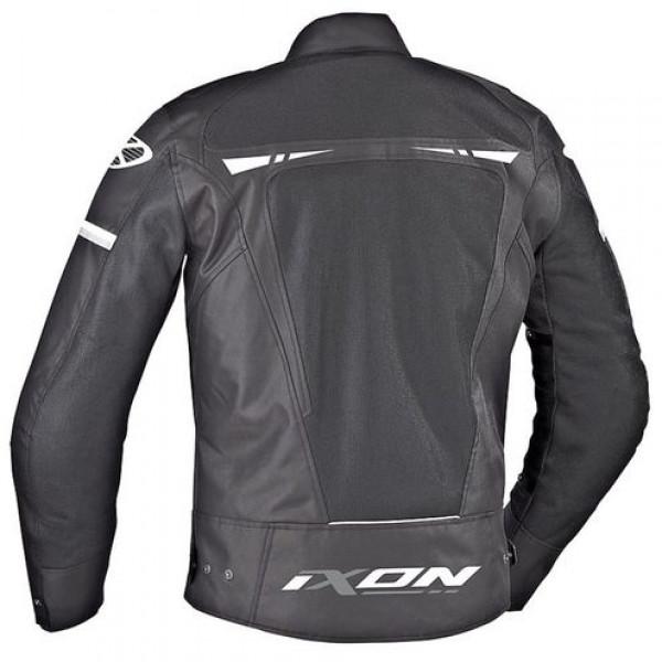 Ixon PITRACE motorcycle Jacket Black White