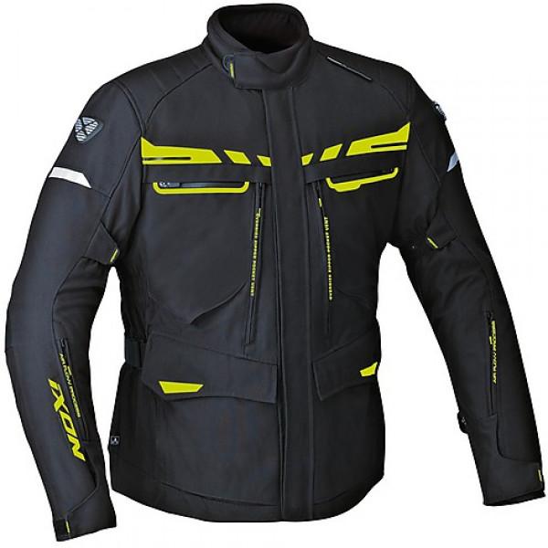Ixon Protour HP motorcycle 3 layers Jacket Black Fluo Yellow