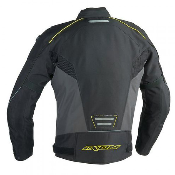 Ixon Stratus HP 4 Seasons motorcycle Jacket Black White Lively Yellow