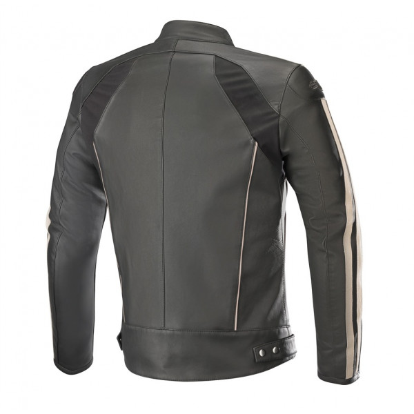 Alpinestars DYNO V2 leather jacket black stone red