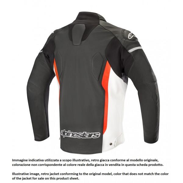 Alpinestars FASTER leather jacket black whte