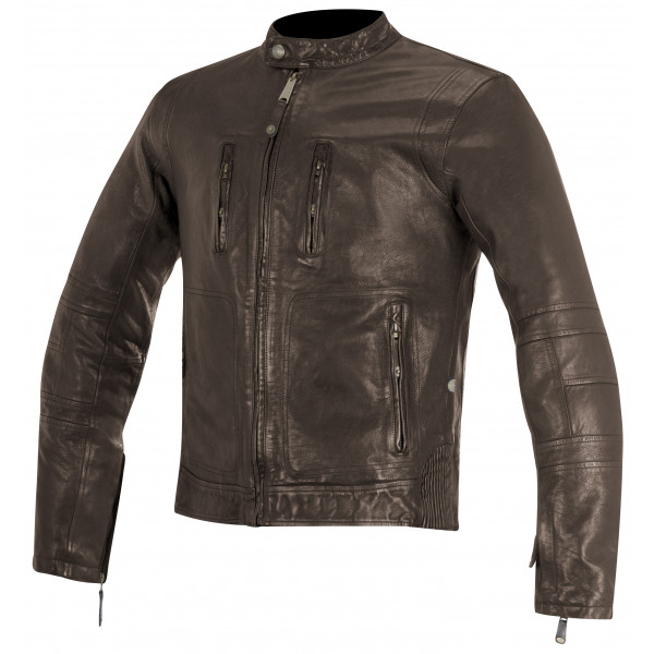 Alpinestars Oscar Brass  leather Jacket tobacco brown