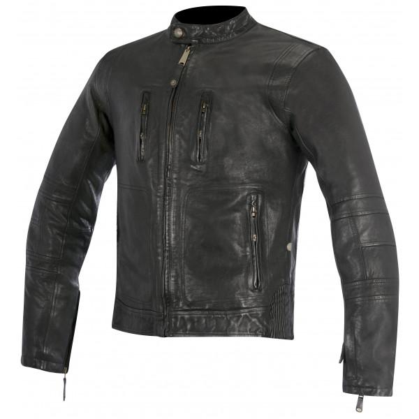 Alpinestars Oscar Brass  leather Jacket black