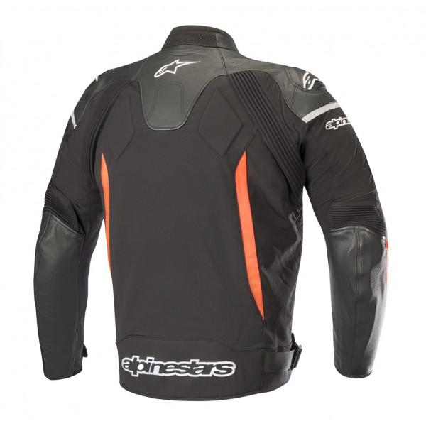 Alpinestars SP X leather jacket black red fluo