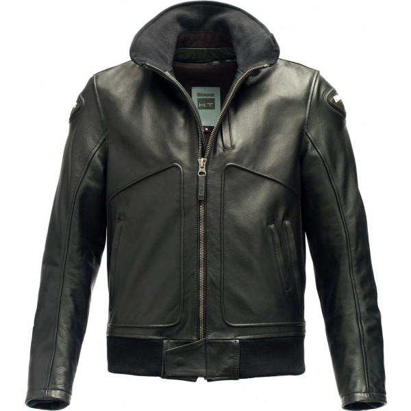 Blauer Thor leather jacket Black