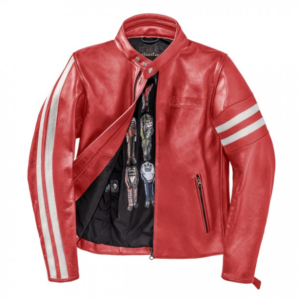 Dainese72 FRECCIA72 leather jacket Red White