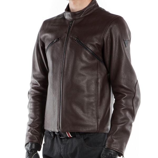 Dainese72 PRIMA72 leather jacket Dark Brown