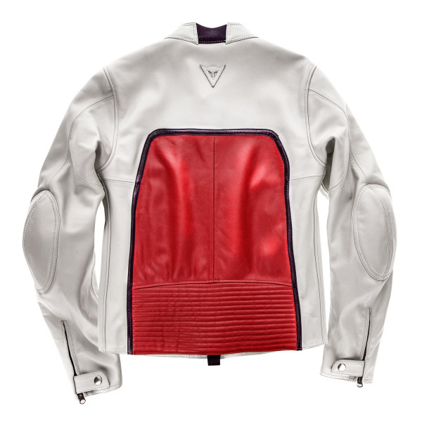 Dainese72 TOGA72 leather jacket White Red
