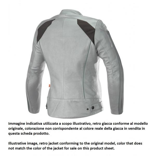 Alpinestars STELLA DYNO V2 leather lady jacket navy stone red