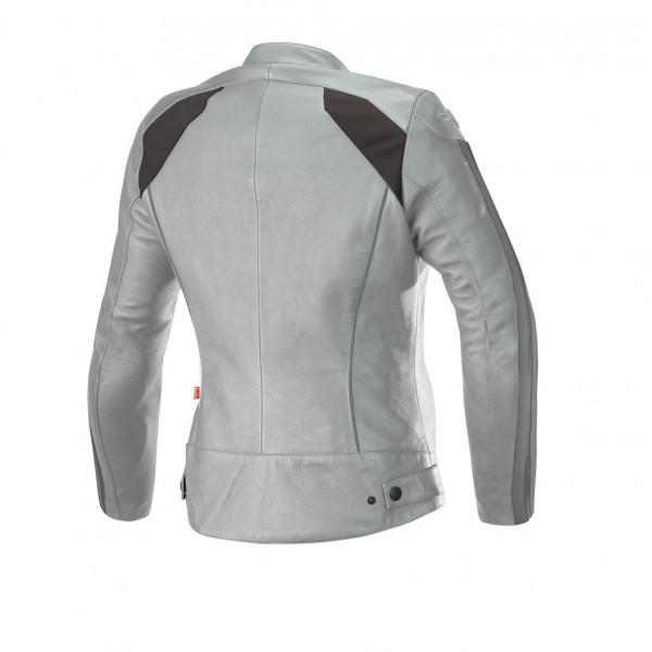 Alpinestars STELLA DYNO V2 leather lady jacket cool gray acqua