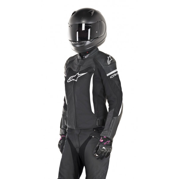 Alpinestars STELLA SP X AIR leather lady jacket black whte