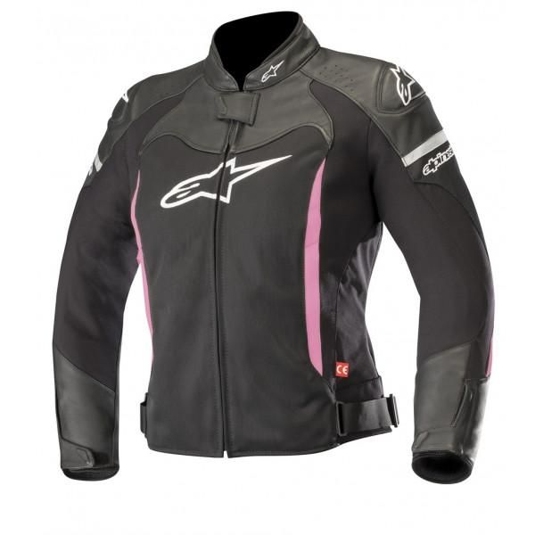Alpinestars STELLA SP X AIR leather lady jacket black fuchsia